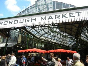 Market pavilion sign