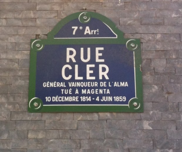 rue Cler sign