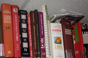 Concept Chef's cookbook shelf at Les Halles in Avignon
