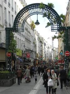 Paris market street Montorgueil