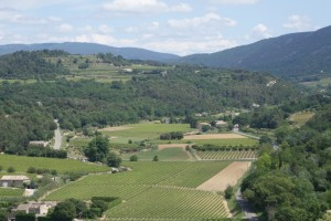 hilltop view Provence