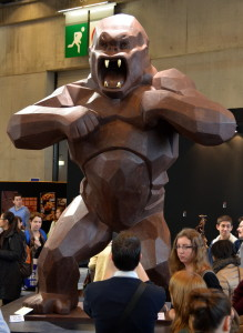 King Kong chocolate sculpture