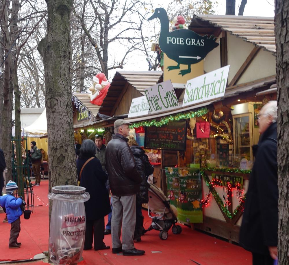 Paris Christmas Market foie gras