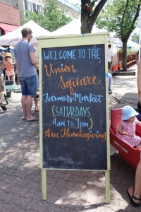 Somerville farmers market