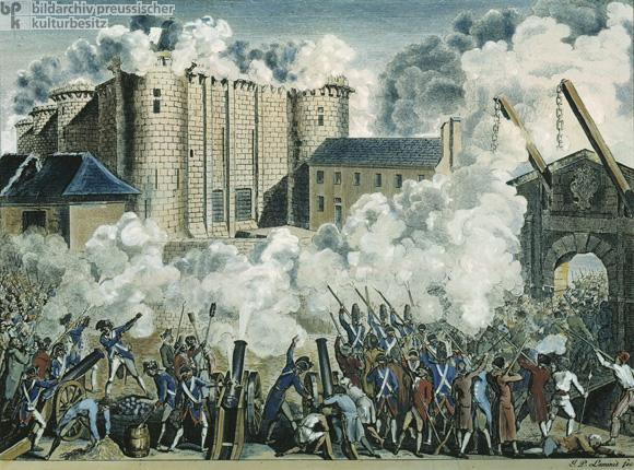 historical image storming Bastille