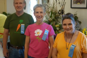Heirloom tomato judges (Ken Oles, Marjorie Williams, Carol Wood)