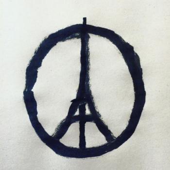 Paris Eiffel Tower peace sign