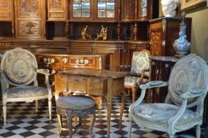 furniture at Clignancourt flea market Paris