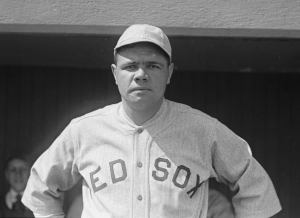 Babe Ruth Red Sox uniform