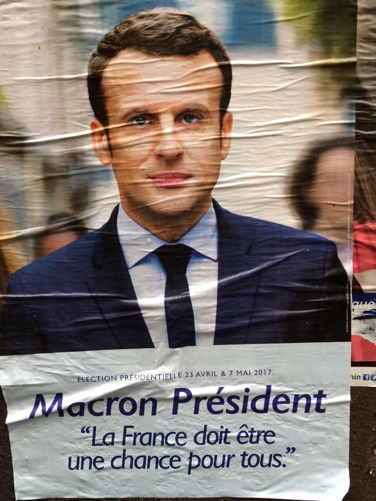 Emmanuel Macron poster
