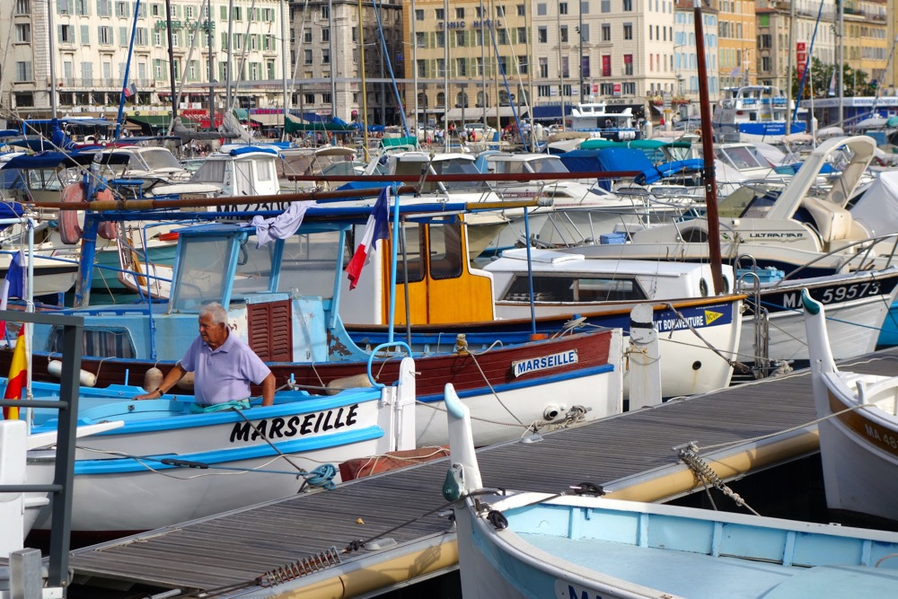 Marseille France fishing boats