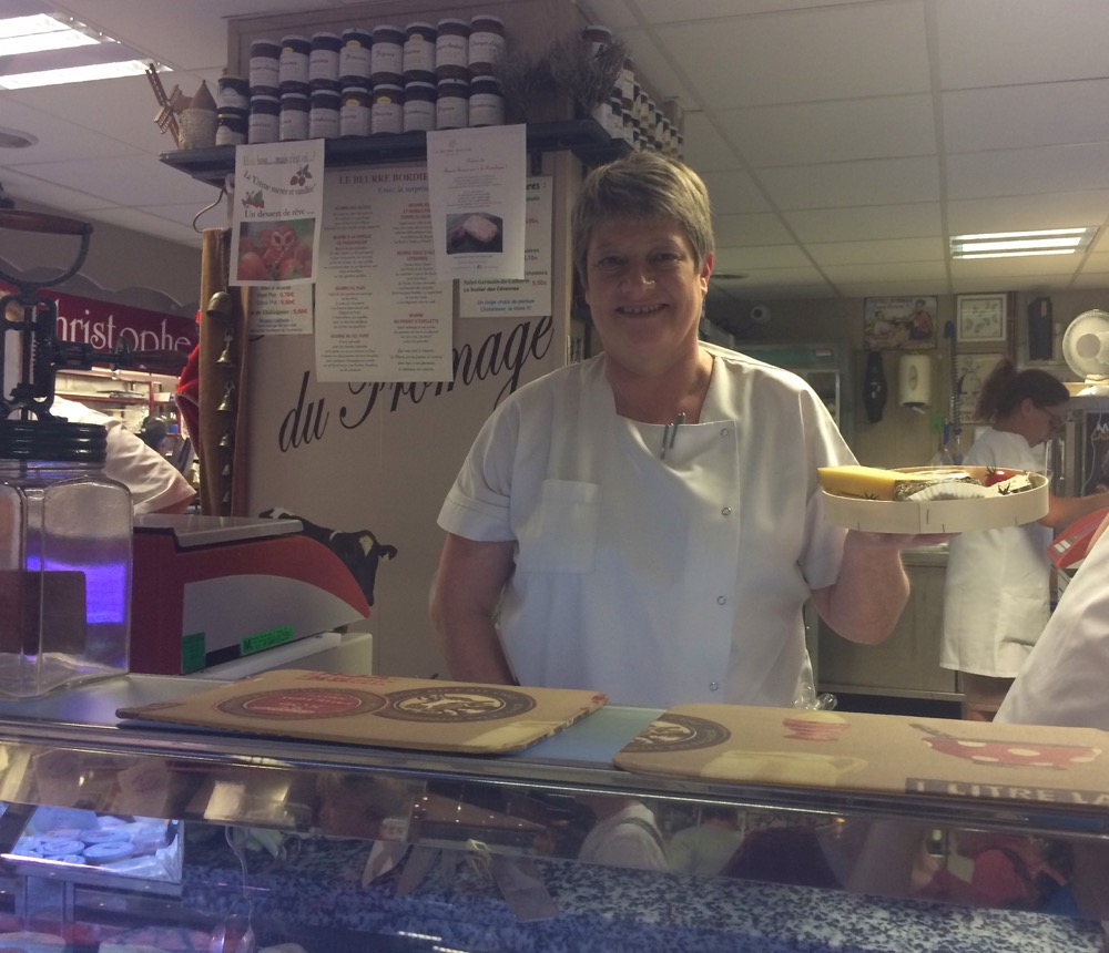 Les Halles Avignon market cheese vendor